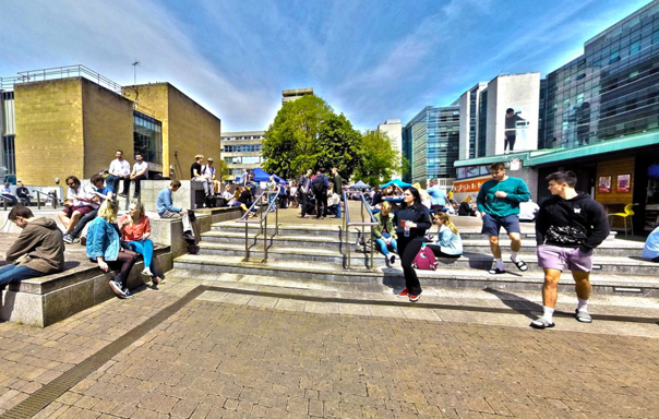 Student Piazza outside the library